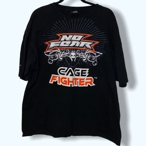 VTG 90s no fear cage fighter tee XL
